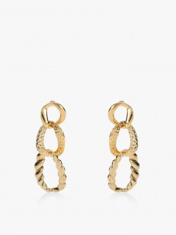 Style Fiesta Textured Chain Detail Earrings