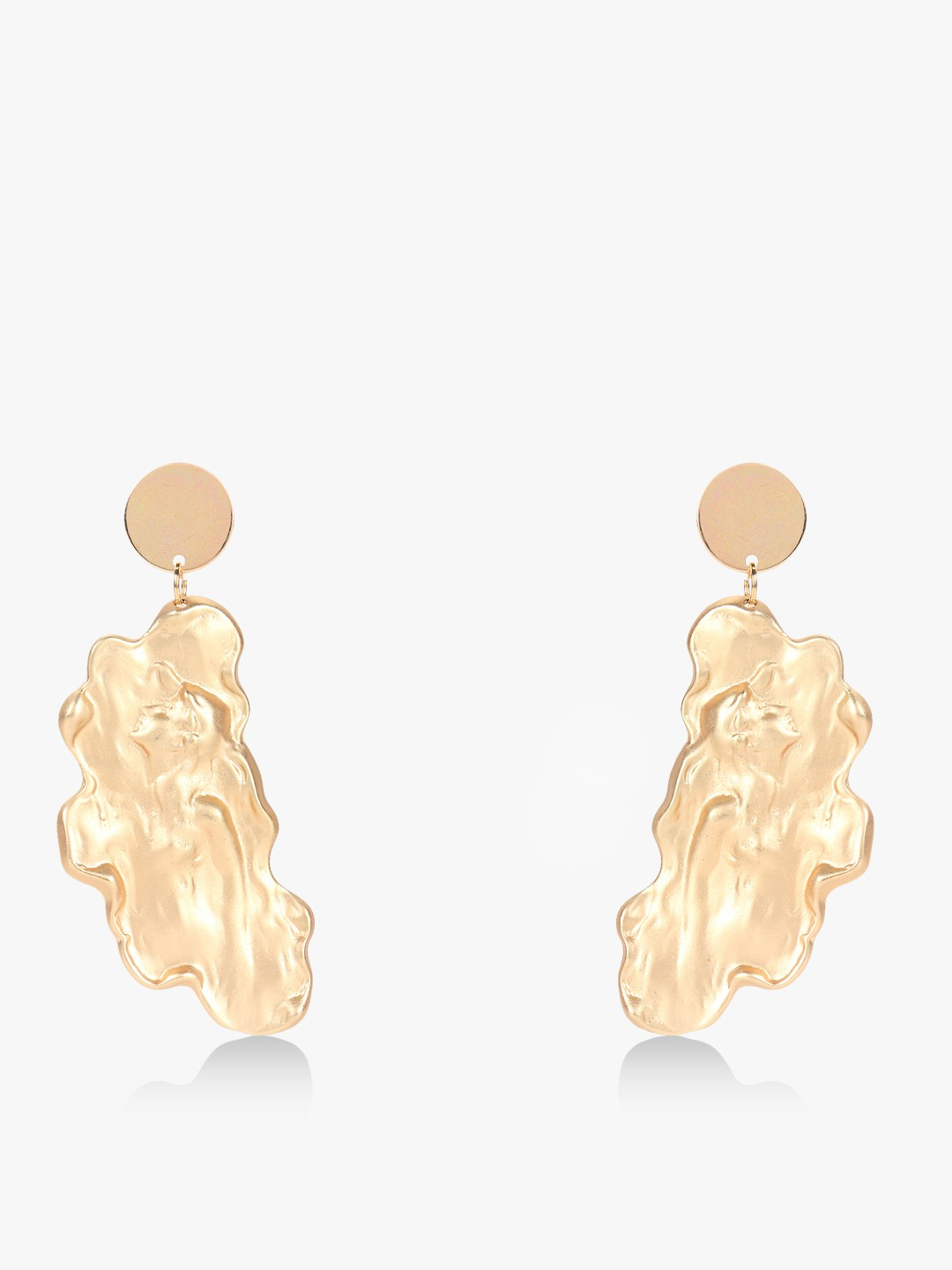Style Fiesta Gold Lady Encrusted Abstract Earrings 1
