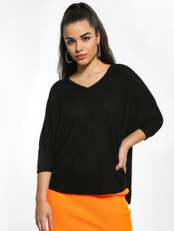 New Look Basic Ribbed Oversized Top