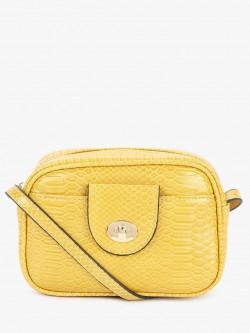 New Look Crocskin Texture Sling Bag