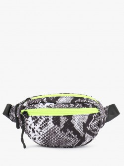 New Look Snakeskin Print Bum Bag