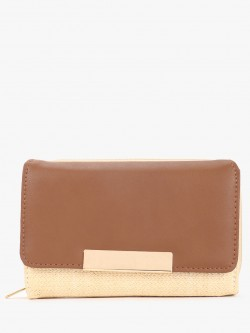 New Look Straw Detail Wallet