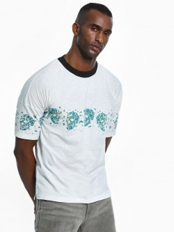 KOOVS Shattered Skull Row Oversized T-Shirt