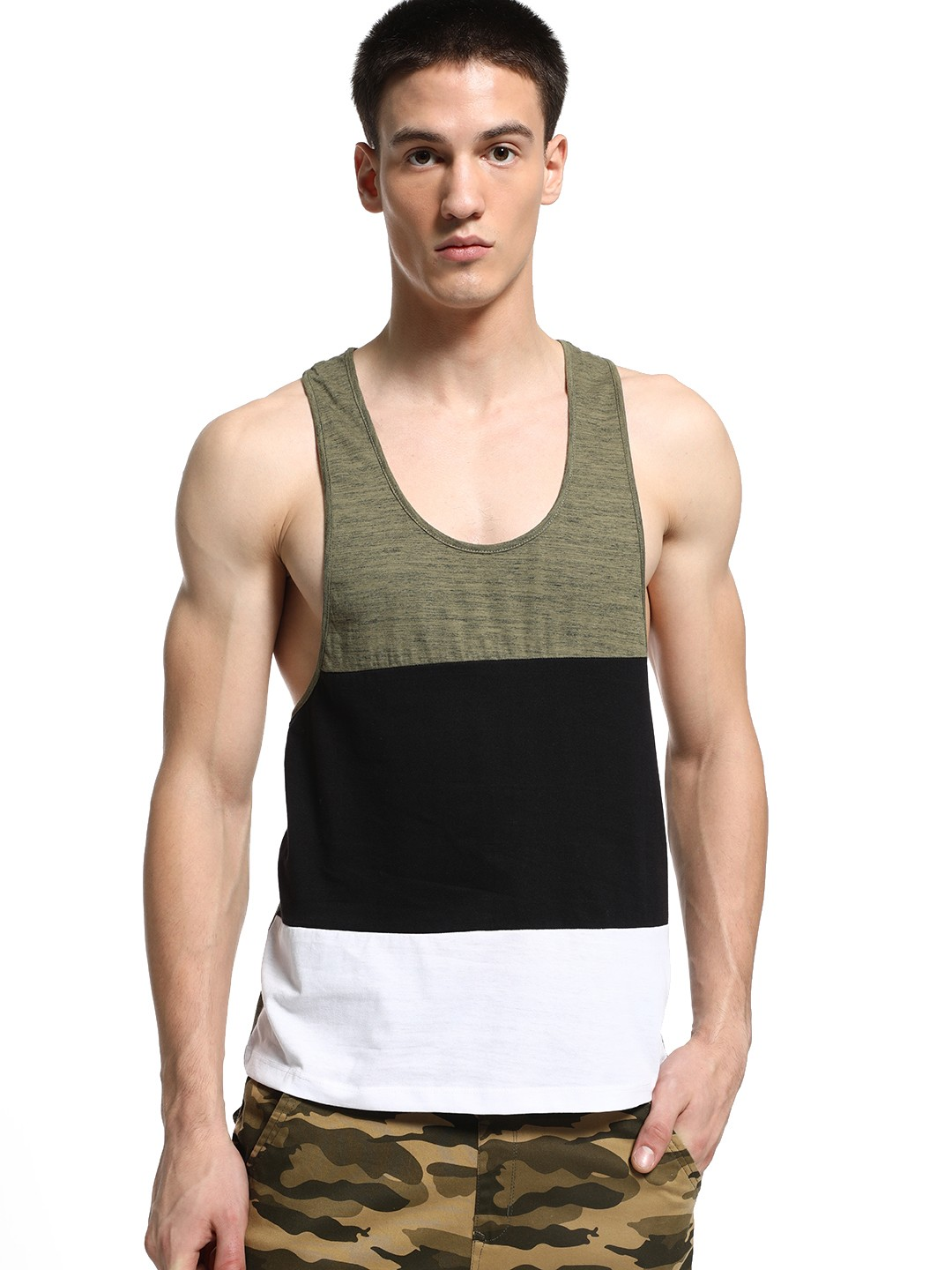 KOOVS Multi Colour Block Racerback Vest 1