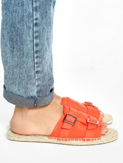 KOOVS Espadrille Sole Buckle Sandals