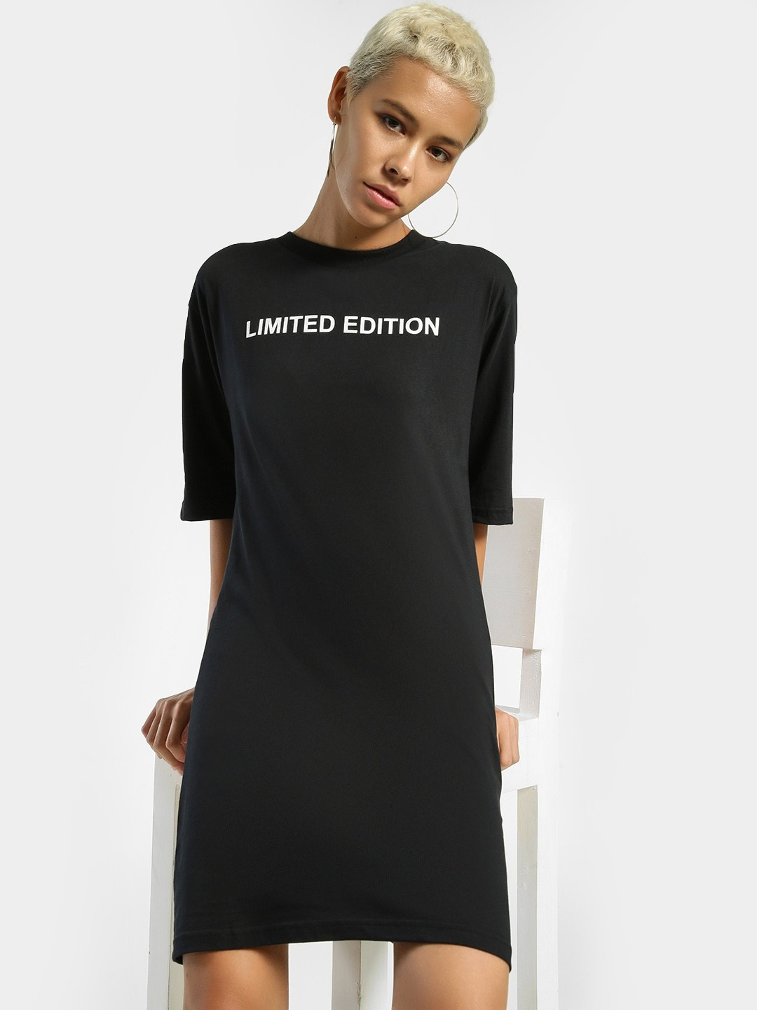 Daisy Street Black Limited Edition T-Shirt Dress 1