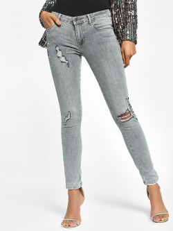 Toxik3 Light Wash Distressed Skinny Jeans