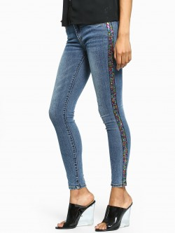 Toxik3 Side Sequin Stripe Skinny Jeans
