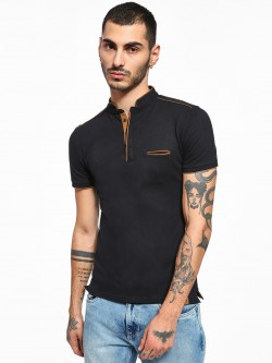 Celio Stand-Up Collar Polo Shirt