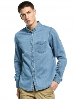 Celio Patch Pocket Denim Shirt