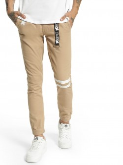 Kultprit D-Ring Tape Cuffed Hem Trousers