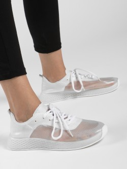 Ideal Shoes Knitted Mesh Trainers