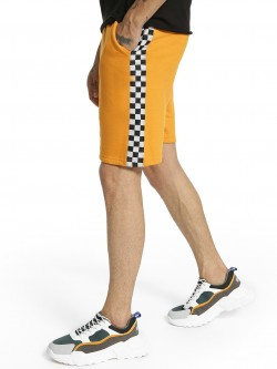 Fighting Fame Checkerboard Side Tape Shorts