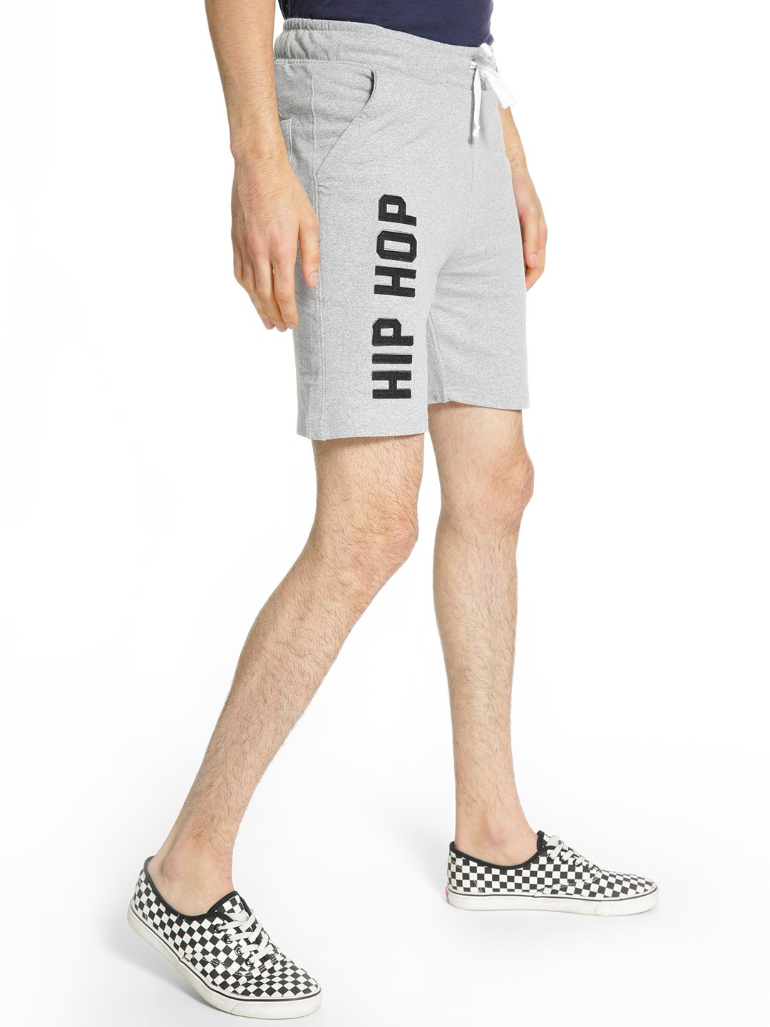 Fighting Fame Grey Hip Hop Patch Shorts 1