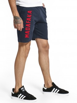 Fighting Fame Madafaka Text Patchwork Shorts