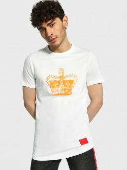 Fighting Fame King Crown Longline T-Shirt