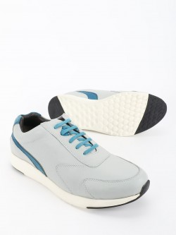 YOHO Colour Block Panel Leather Sneakers