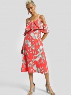 Miaminx Tropical Print Midi Dress