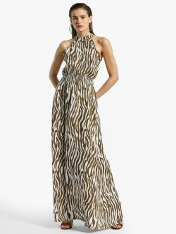 Miaminx Zebra Print Maxi Dress