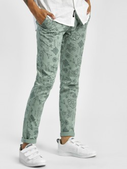 AMON Nautical Print Slim Trousers