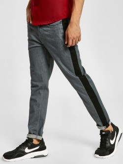 REALM Contrast Side Cut & Sew Slim Jeans