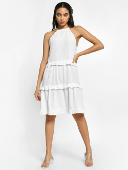 The Gud Look Tiered Detail Shift Dress