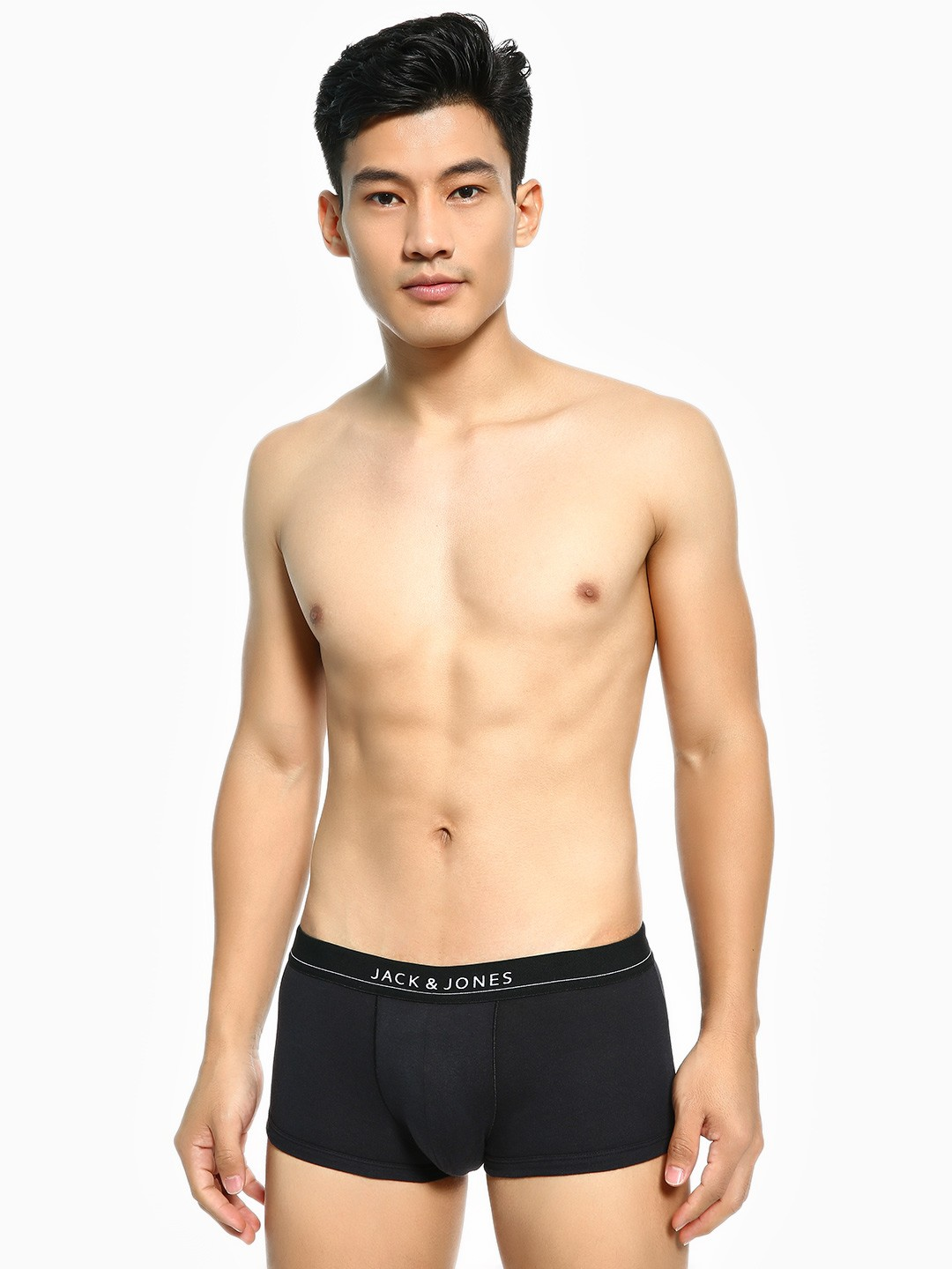 Jack & Jones Black Basic Logo Brazilian Trunks 1