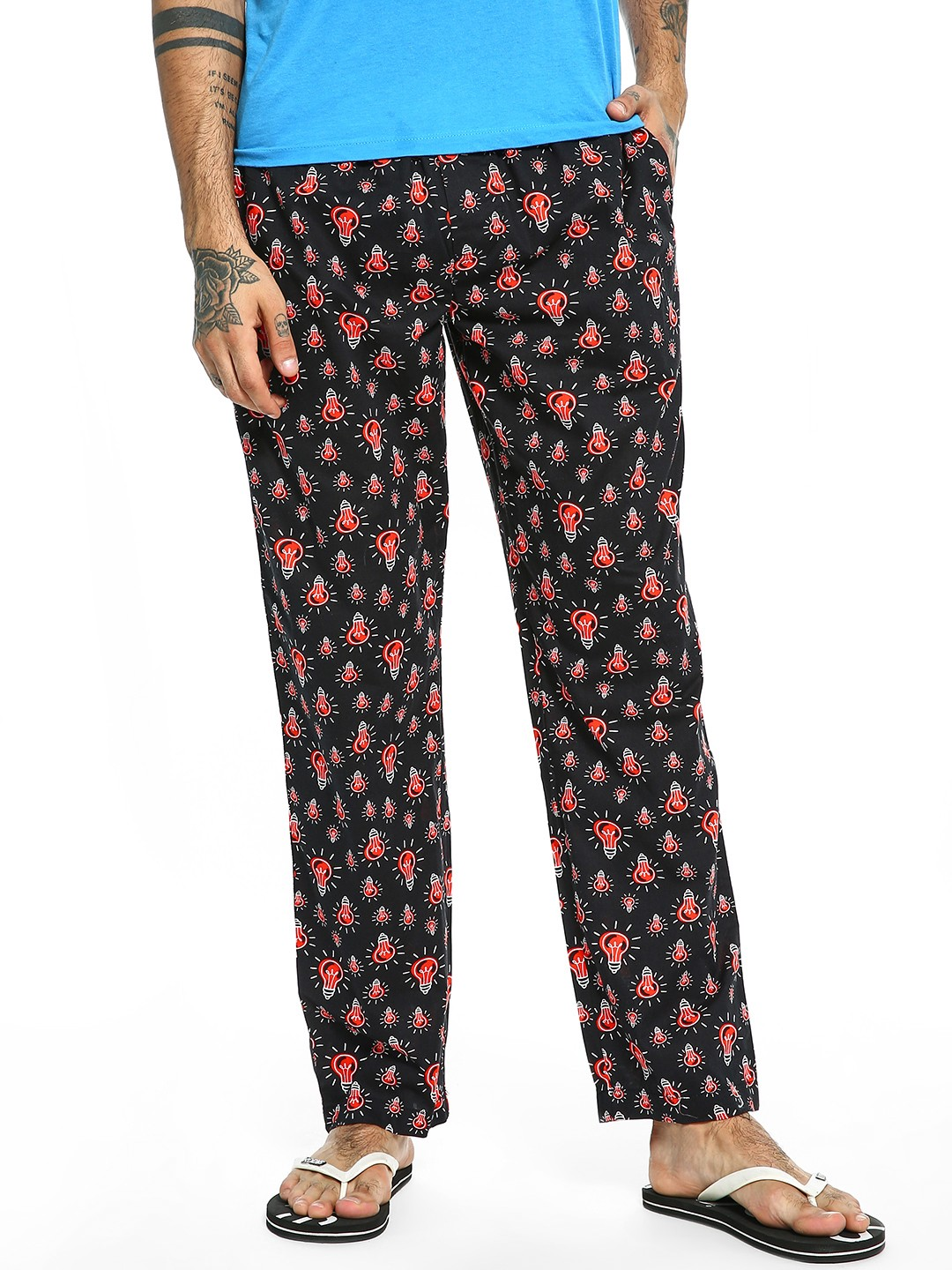 Jack & Jones Black Bulb Print Lounge Pants 1