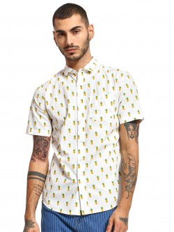 Mint & Cotton All Over Pineapple Print Shirt