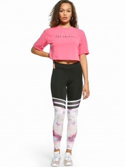 EmmaCloth Tie & Dye Print Panel Leggings