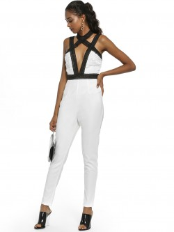 Rare London Crochet Lace Bodice Jumpsuit
