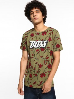 Adamo London Boss Floral Print T-Shirt