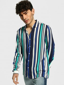 Adamo London Vertical Stripe Long Sleeve Shirt