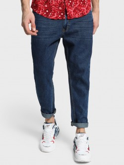 Adamo London Dark Wash Tapered Slim Jeans