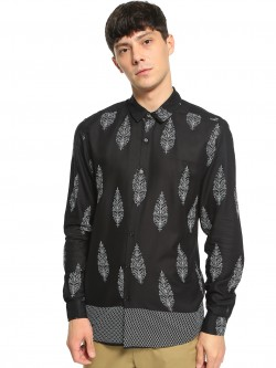 TRUE RUG Floral Block Print Shirt