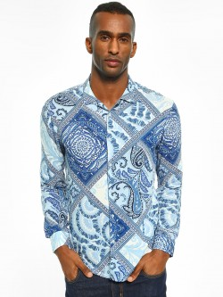 TRUE RUG All Over Paisley Print Shirt