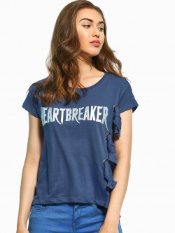 UMM Metallic Heartbreaker Patch T-Shirt