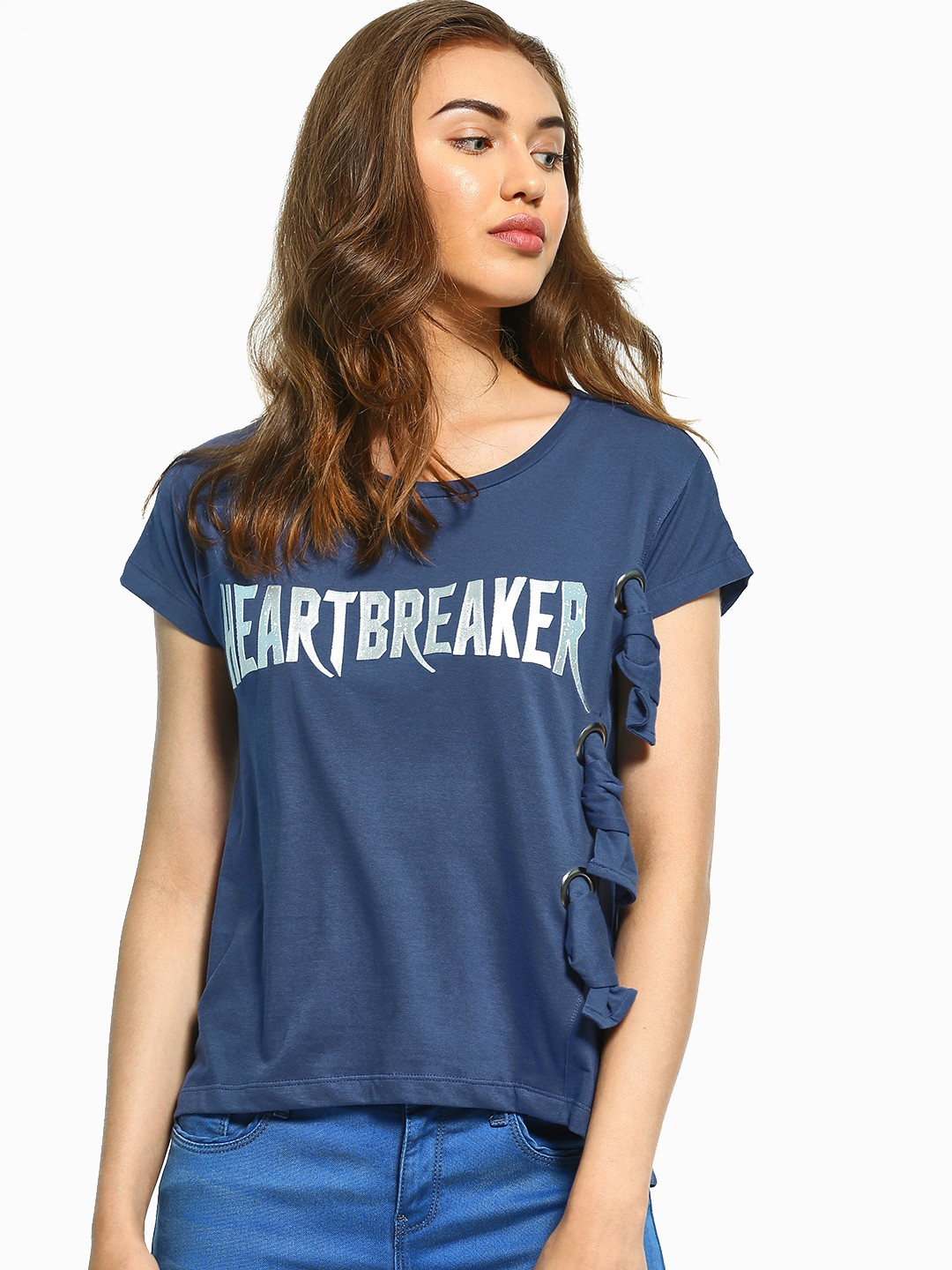 UMM Navy Metallic Heartbreaker Patch T-Shirt 1