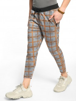 KOOVS Multi-Check Cropped Joggers