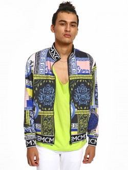 KOOVS Spliced Baroque Print Track Jacket