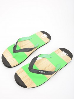 United Colors of Benetton Colour Block Logo Flip Flops