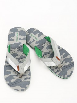 United Colors of Benetton Camo Print Flip Flops