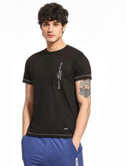 SKULT By Shahid Kapoor Pocket Slogan Print T-Shirt