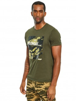 SKULT By Shahid Kapoor Camo Text Placement Print T-Shirt