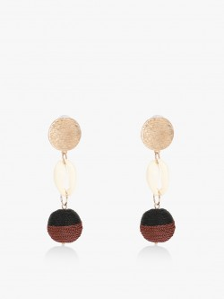 Blueberry Shell Concentric Drop Earrings
