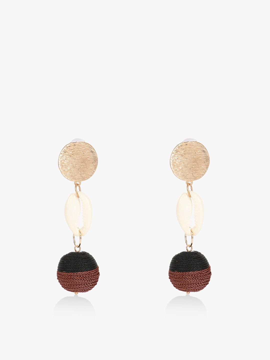Blueberry Multi Shell Concentric Drop Earrings 1