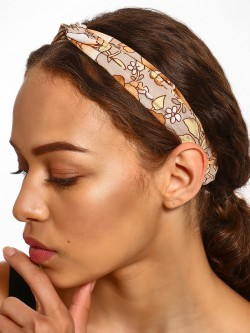 Blueberry Floral Print Twist Knot Headband