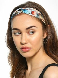 Blueberry Watercolour Effect Twist Knot Headband