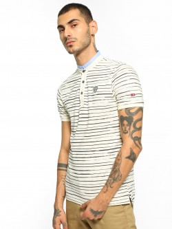 Being Human Horizontal Stripe Polo Shirt