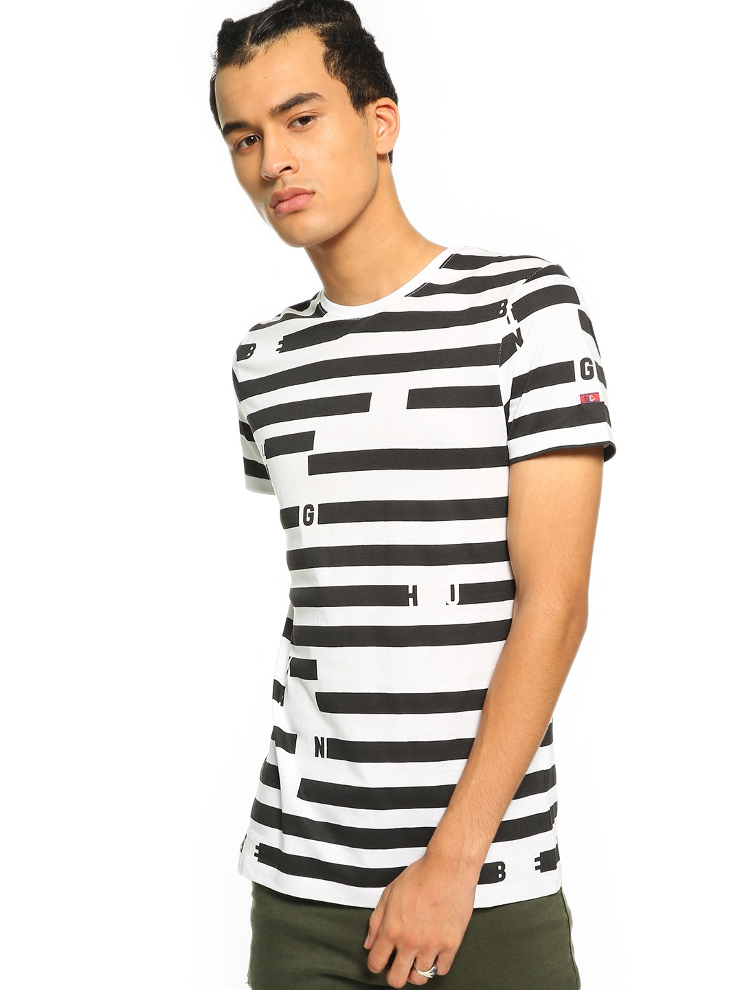 Being Human Multi Logo Horizontal Stripe T-Shirt 1